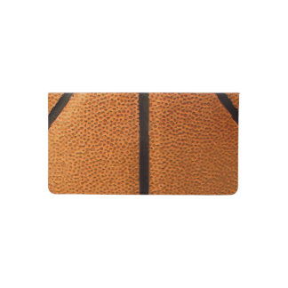 Basketball Print Pattern Background Checkbook Cover