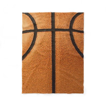 Basketball Print Pattern Background Fleece Blanket