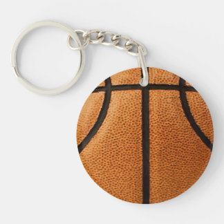 Basketball Print Pattern Background Keychain