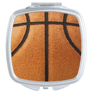 Basketball Print Pattern Background Vanity Mirror