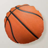 Basketball Print Round Pillow