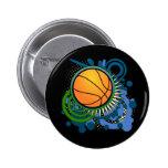 Basketball Punk Circles Blue Button