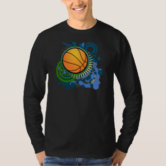 Basketball Punk Circles Blue T-Shirt