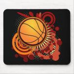 Basketball Punk Circles Red Mousepad