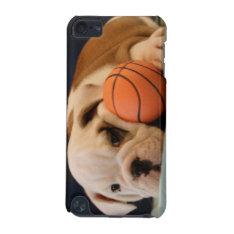 Basketball Puppy English Bulldog Ipod Touch 5g Cover at Zazzle