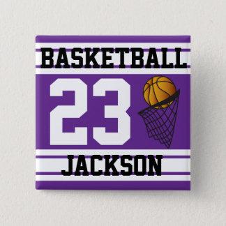 Basketball Purple & White Stripes | DIY Text Button