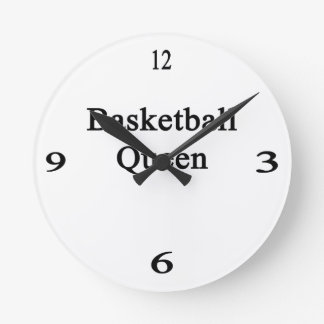 Basketball Queen Round Wall Clock
