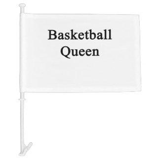 Basketball Queen Car Flag