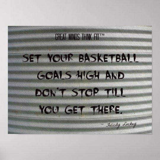Basketball Quote Graffiti on Corrugated Iron 004 Poster
