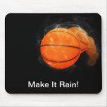 Basketball Rain Customizable Mouse Pad