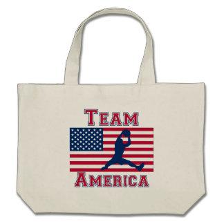Basketball Rebound American Flag Team America Canvas Bags