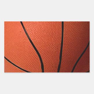 Basketball Rectangular Sticker