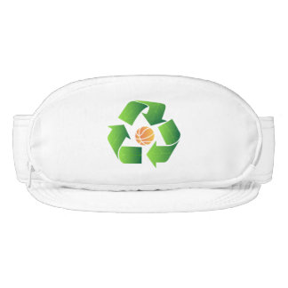 Basketball & Recycle Logo Pouch Visor