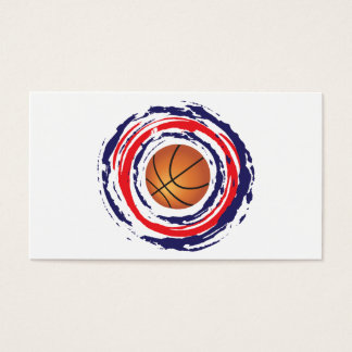 Basketball Red Blue And White Business Card