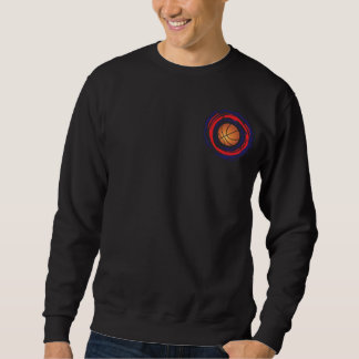 Basketball Red Blue And White Sweatshirt