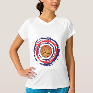 Basketball Red Blue And White T Shirts