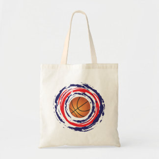 Basketball Red Blue And White Tote Bag
