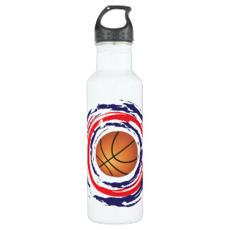 Basketball Red Blue And White Water Bottle