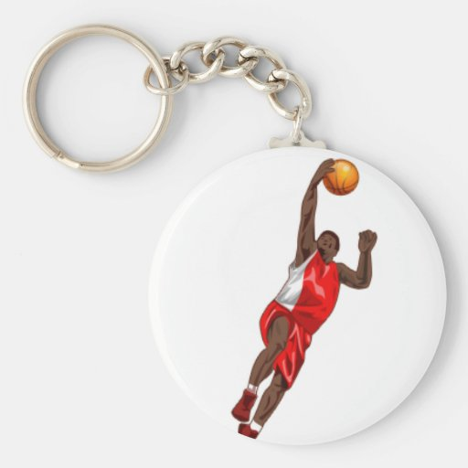 BASKETBALL RED KEY CHAINS