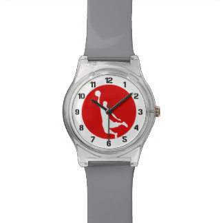 Basketball Red Number Wrist Watch