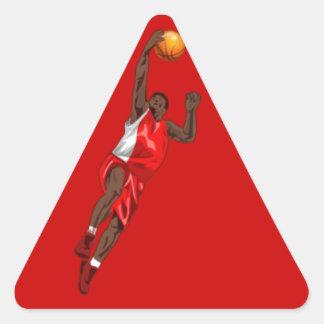BASKETBALL RED TRIANGLE STICKER