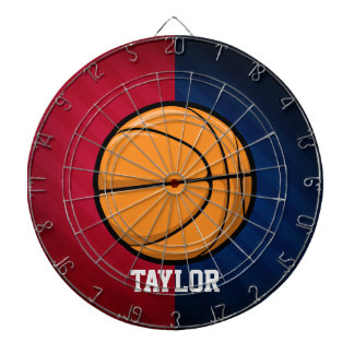 Basketball; Red, White, and Blue Dartboard