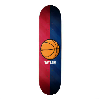 Basketball; Red, White, and Blue Skateboard
