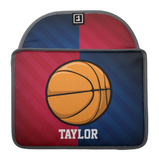 Basketball; Red, White, and Blue Sleeve For MacBook Pro