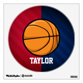 Basketball; Red, White, and Blue Wall Sticker