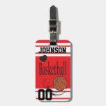 Basketball Red/White Bag Tag