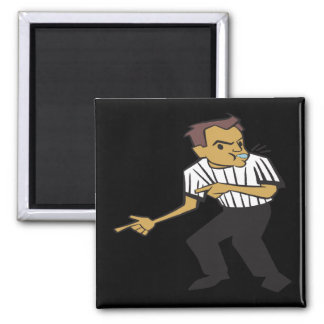 Basketball Referee 2 Inch Square Magnet