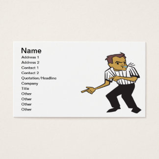 Basketball Referee Business Card