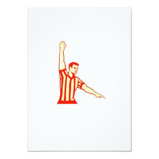 Basketball Referee Stop Clock Foul Retro 4.5x6.25 Paper Invitation Card