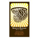basketball : retro rays : business card