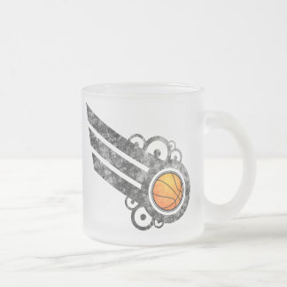 Basketball Retro Stripe Black Mug