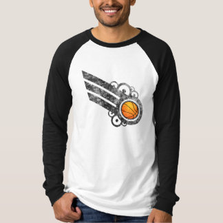 Basketball Retro Stripe Black T-Shirt