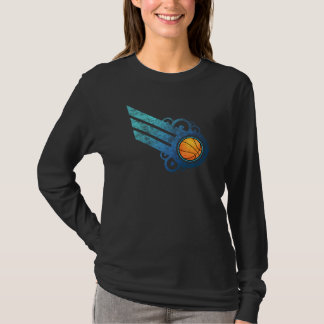 Basketball Retro Stripe Blue T-Shirt