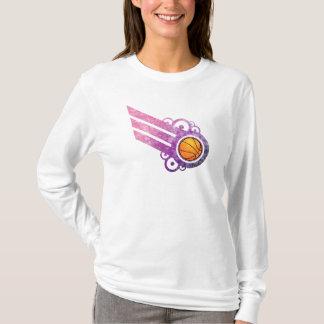 Basketball Retro Stripe Pink T-Shirt