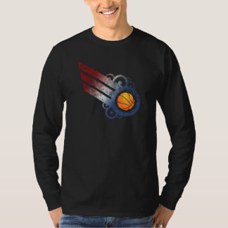 Basketball Retro Stripe USA T-Shirt