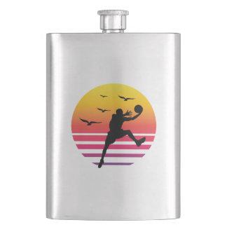 Basketball retro sunset, #Basketball Flask