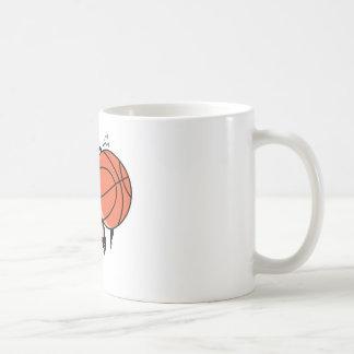 basketball ripping through coffee mug