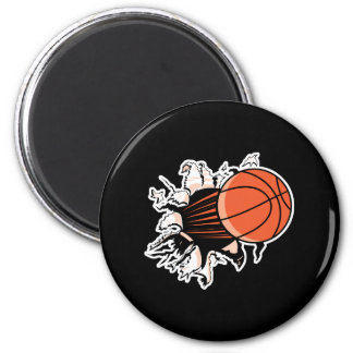 basketball ripping through fridge magnets