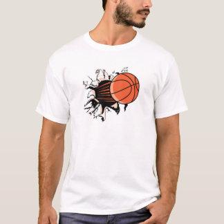 basketball ripping through T-Shirt
