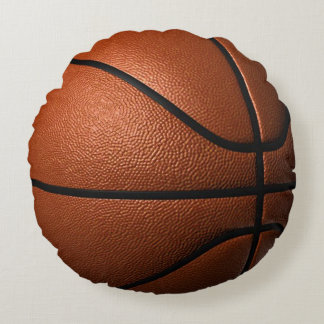 Basketball Round Throw Pillow