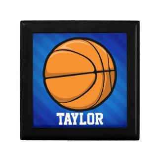 Basketball; Royal Blue Stripes Gift Boxes