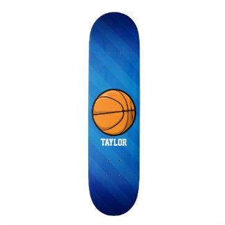 Basketball; Royal Blue Stripes Skate Deck