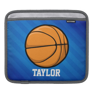 Basketball; Royal Blue Stripes Sleeve For iPads