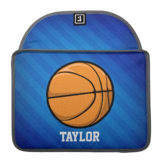 Basketball; Royal Blue Stripes Sleeve For MacBooks
