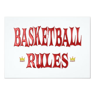 Basketball Rules Personalized Announcement
