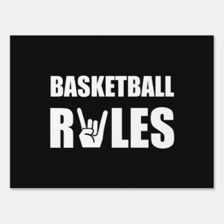 Basketball Rules Lawn Sign